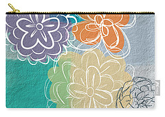 Big Flowers Carry-all Pouch by Linda Woods