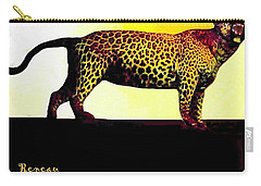 Big Game Africa - Leopard Carry-all Pouch by Sadie Reneau