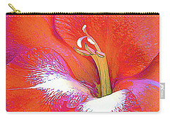 Big Glad In Orange And Fuchsia Carry-all Pouch