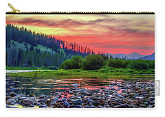 Carry-all Pouch featuring the photograph Big Hole River Sunset by Bryan Carter
