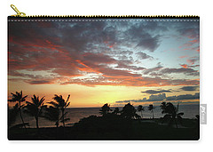 Carry-all Pouch featuring the photograph Big Island Sunset #2 by Anthony Jones