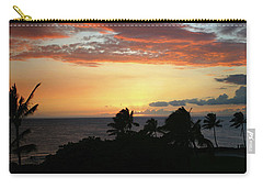 Carry-all Pouch featuring the photograph Big Island Sunset by Anthony Jones