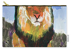 Carry-all Pouch featuring the painting Big Lion King by Donald J Ryker III