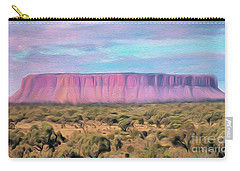 Big Pink Mesa Carry-all Pouch by Walter Colvin