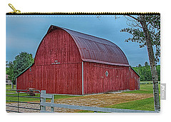 Carry-all Pouch featuring the photograph Big Red Barn At Cross Village by Bill Gallagher