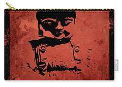 Carry-all Pouch featuring the painting Big Red Buddha by Kandy Hurley