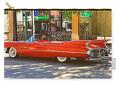 Big Red Cadillac Convertible Summer In The City Carry-all Pouch