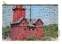 Big Red Photomosaic Carry-all Pouch by Michelle Calkins