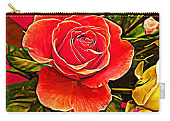 Big Red Rose Carry-all Pouch