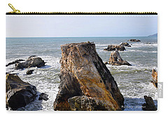 Carry-all Pouch featuring the photograph Big Rocks In Grey Water by Barbara Snyder
