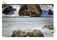 Carry-all Pouch featuring the photograph Big Rocks In Grey Water Duo by Barbara Snyder