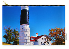 Big Sable Point Lighthouse Carry-all Pouch by Nick Zelinsky