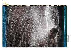 Carry-all Pouch featuring the photograph Big Shaggy Dog by EricaMaxine  Price