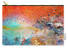 Big Shot - Orange And Blue Colorful Happy Abstract Art Painting Carry-all Pouch