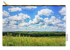 Carry-all Pouch featuring the photograph Big Sky -wisconsin -color by Ricky L Jones