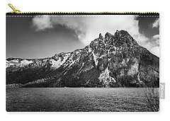 Big Snowy Mountain In Black And White Carry-all Pouch