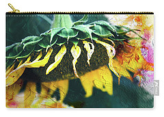 Carry-all Pouch featuring the photograph Big Sunflower Abstract by Anna Louise