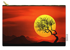 Big Sunset Carry-all Pouch by Bess Hamiti