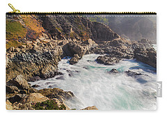 Carry-all Pouch featuring the photograph Big Sur Coastline View Point by Jingjits Photography