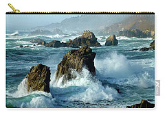 Big Sur Winter Wave Action Carry-all Pouch by Amelia Racca