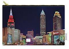 Carry-all Pouch featuring the photograph Big Three In Cle by Frozen in Time Fine Art Photography