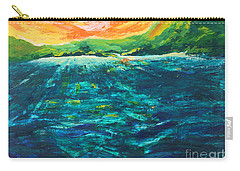 Big Tropical Wave Carry-all Pouch