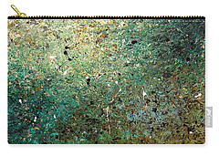 Carry-all Pouch featuring the painting Big Universe - Abstract Art by Carmen Guedez