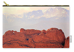 Big View Kissing Camels N Pikes Peak Carry-all Pouch