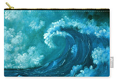 Carry-all Pouch featuring the painting Big Wave by Anastasiya Malakhova