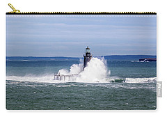 Big Wave Hits Ram Island Ledge Light Carry-all Pouch