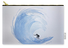 Big Wave Surfing Carry-all Pouch by Edwin Alverio