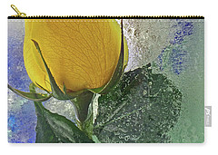 Carry-all Pouch featuring the digital art Big Yellow by Terry Foster