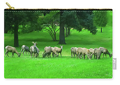 Carry-all Pouch featuring the digital art Bighorn Sheep Ewes  by Chris Flees