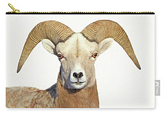 Carry-all Pouch featuring the photograph Bighorn Sheep Ram by Jennie Marie Schell