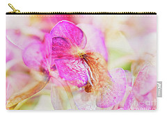 Bigleaf Hydrangea Abstract Carry-all Pouch by Nick Biemans
