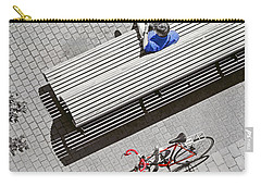 Carry-all Pouch featuring the photograph Bike Break by Keith Armstrong
