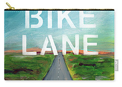 Bike Lane- Art By Linda Woods Carry-all Pouch by Linda Woods