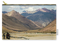 Bikers And The Andes Mountains Carry-all Pouch