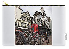 Carry-all Pouch featuring the photograph Bikes Galore In Cambridge by Gill Billington