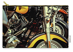 Carry-all Pouch featuring the photograph Bikes In A Row by Samuel M Purvis III