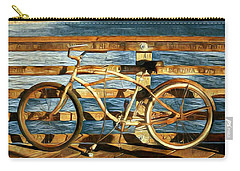Biking To The Beach Carry-all Pouch by Karyn Robinson