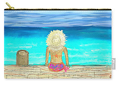 Bikini On The Pier Carry-all Pouch
