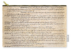 Bill Of Rights Carry-all Pouch