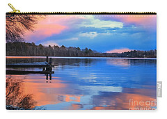Billington Sea Sunset Carry-all Pouch by Amazing Jules