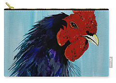 Carry-all Pouch featuring the painting Billy Boy The Rooster by Janice Rae Pariza