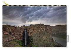 Carry-all Pouch featuring the photograph Billy Chinook Falls by Cat Connor