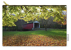 Carry-all Pouch featuring the photograph Billy Creek Bridge by Joanne Coyle