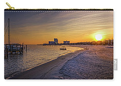 Biloxi Beach Sunset Carry-all Pouch by Barry Jones