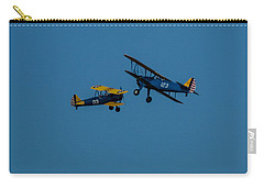 Biplanes Near Collision 5x7 Carry-all Pouch