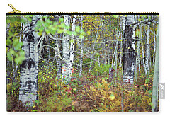 Birch And Ferns Carry-all Pouch
